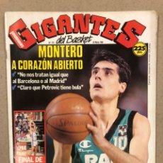 Coleccionismo deportivo: GIGANTES DEL BASKET N° 176 (1989). POSTER TERRY CUMMINGS Y DAVID ROBINSON, RECOPA RESL MADRID. Lote 243818580