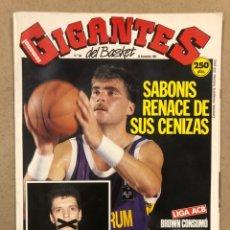 Coleccionismo deportivo: GIGANTES DEL BASKET N° 264 (1990). POSTER BRAD BRANSON, SABONIS (VALLADOLID), PETROVIC,.... Lote 243820705