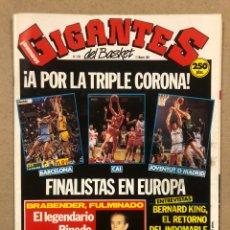 Coleccionismo deportivo: GIGANTES DEL BASKET N° 279 (1991). POSTER JAVIER FERNÁNDEZ (ELOSUA LEON), BRABENDER, NBA,.... Lote 243821810