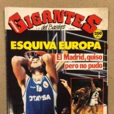 Coleccionismo deportivo: GIGANTES DEL BASKET N° 283 (1991). POSTER SALVA DIEZ (PAMESA), FINALES EUROPEAS MADRID, CAI,.... Lote 243822935
