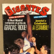 Coleccionismo deportivo: GIGANTES DEL BASKET N° 334 (1992). POSTER KEVIN JOHNSON, REAL MADRID CAMPEÓN EUROPA, FINAL FOUR. Lote 243827570