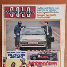 Coleccionismo deportivo: REVISTA SOLO AUTO ACTUAL NÚM. 22 AÑO 1988 GP F1 MÓNACO PROST PÉREZ SALA MINARDI SANT CUGAT TIBIDABO. Lote 244178425