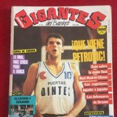 Coleccionismo deportivo: REVISTA GIGANTES DEL BASKET # 121 AÑO 1988 NBA POSTER AKEEM OLAJUWON BENOIT BENJAMIN. Lote 244745930