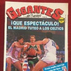 Coleccionismo deportivo: REVISTA GIGANTES DEL BASKET # 156 AÑO 1988 NBA POSTER LARRY BIRD REAL MADRID CELTIC PARISH VRANKOVIC. Lote 244747270