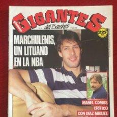 Coleccionismo deportivo: REVISTA GIGANTES DEL BASKET # 193 AÑO 1989 NBA POSTER SHARUNAS MARCHULENIS. Lote 244753545