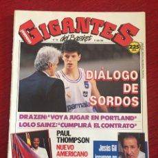 Coleccionismo deportivo: REVISTA GIGANTES DEL BASKET # 195 AÑO 1989 NBA POSTER DRAZEN PETROVIC. Lote 244753745