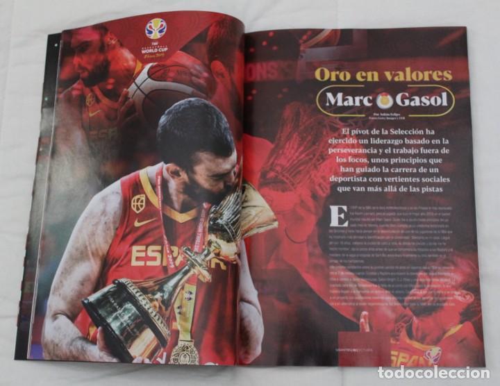 Coleccionismo deportivo: LOTE REVISTA GIGANTES DEL BASKET. Nº 1088 1089 1489 ESPAÑA CAMPEÓN DEL MUNDO BALONCESTO 2006 y 2019. - Foto 17 - 213546600