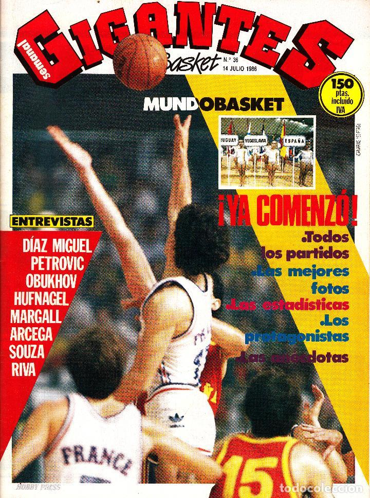 REVISTA GIGANTES DEL BASKET NUMERO 36 MUNDOBASKET ¡YA COMENZÓ! (Coleccionismo Deportivo - Revistas y Periódicos - otros Deportes)