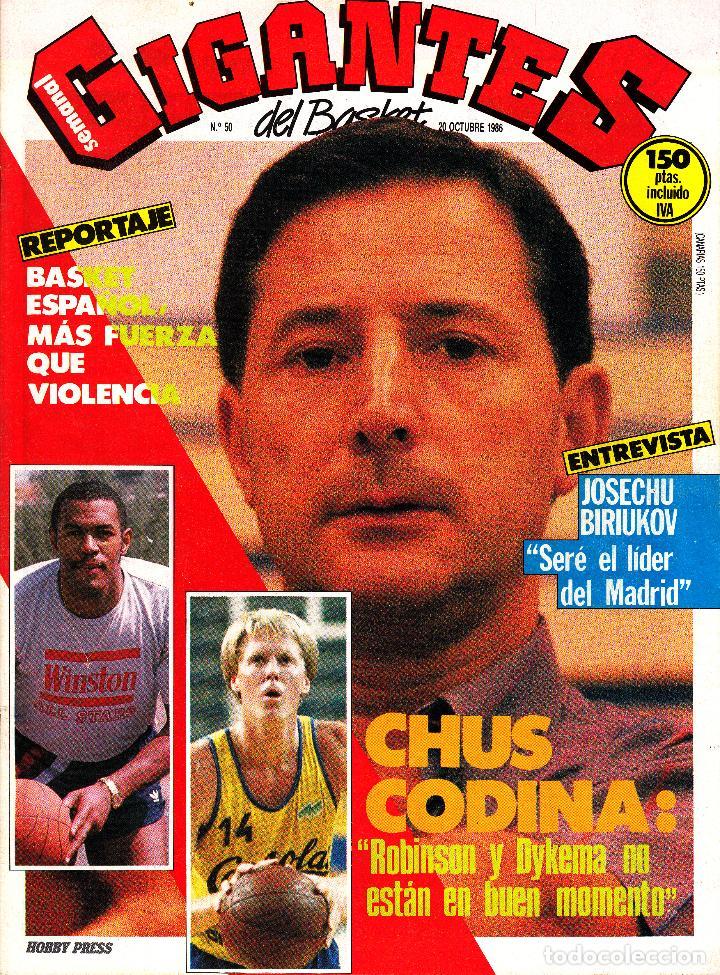REVISTA GIGANTES DEL BASKET NUMERO 50 CHUS CODINA (Coleccionismo Deportivo - Revistas y Periódicos - otros Deportes)