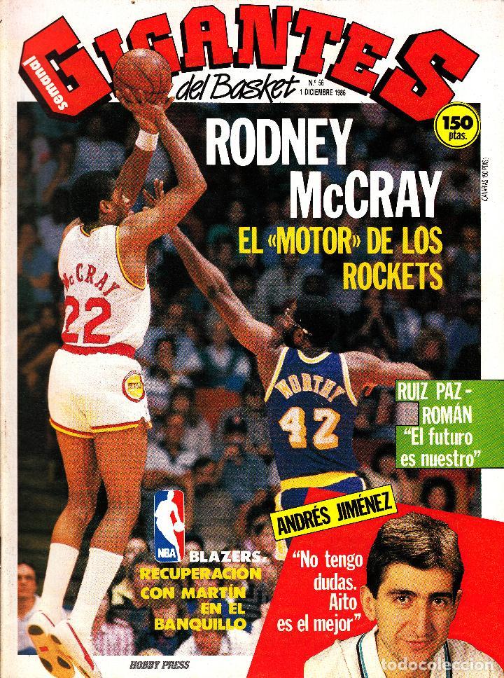 REVISTA GIGANTES DEL BASKET NUMERO 56 RODNEY MCCRAY (Coleccionismo Deportivo - Revistas y Periódicos - otros Deportes)