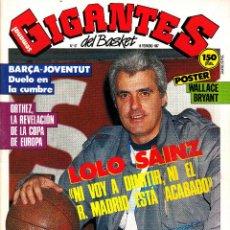 Coleccionismo deportivo: REVISTA GIGANTES DEL BASKET NUMERO 67 LOLO SÁINZ. Lote 246363420