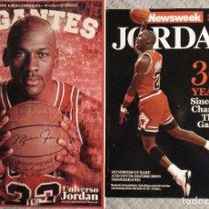 Coleccionismo deportivo: MICHAEL JORDAN - REVISTAS ESPECIALES ''NEWSWEEK'' Y ''GIGANTES DEL BASKET''. Lote 246369590