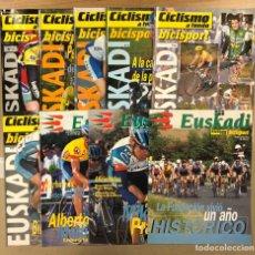 Coleccionismo deportivo: LOTE 9 SUPLEMENTOS EUSKADI DE LA REVISTA CICLISMO A FONDO.. Lote 246691585