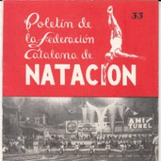 Coleccionismo deportivo: REVISTA FEDERACION CATALANA DE NATACIÓN NUM- 33 AÑO 1947. Lote 247537160