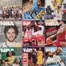 Coleccionismo deportivo: LOTE 9 REVISTA OFICIAL NBA 2008-2009 Nº 194-196-197-198-199-200-201-202-204 BASKET BALONCESTO GASOL. Lote 248145260