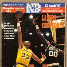 Coleccionismo deportivo: NUEVO BASKET EXTRA VERANO N° 2 (1987). ESPECIAL FINALES LAKERS CELTICS, MICHAEL JORDAN, RESUMEN AÑO. Lote 248294900