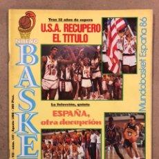 Coleccionismo deportivo: NUEVO BASKET N° 147 (1986). ESPECIAL MUNDOBASKET ESPAÑA 86. USA CAMPEONA, TKACHENKO,..,. Lote 248299845