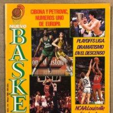 Coleccionismo deportivo: NUEVO BASKET N° 144 (1986). CIBONA ZAGREB CAMPEÓN EUROPA (PETROVIC), PLAYOFFS NBA MICHAEL JORDAN,.... Lote 248301595