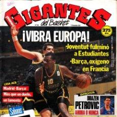 Coleccionismo deportivo: REVISTA GIGANTES DEL BASKET NUMERO 314 VIBRA EUROPA. Lote 248635700