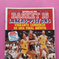 Colecionismo desportivo: REVISTA ESTRELLAS BASKET 16 Nº 37 1988 LAKERKS-PISTONS FINAL NBA 87/88 EPI VRANKOVIC BOSTON CELTICS. Lote 248677055