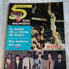 Coleccionismo deportivo: TODO 5 BALONCESTO. REVISTA. Nº 19. ABRIL DE 1980. R. MADRID CAMPEÓN DE EUROPA.ÚNICO EN TD.. Lote 249352775