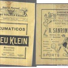 Coleccionismo deportivo: BOLETIN MENSUAL DEL SPORT CICLISTA CATALÀ - Nº 103 - MARZO 1921. Lote 249497415
