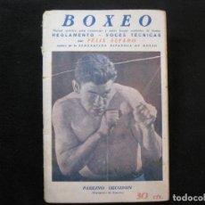 Coleccionismo deportivo: BOXEO-REGLAMENTO-PAULINO UZCUDUN-HERMINIO SPALLA-LIBRO REVISTA DE BOXEO-VER FOTOS-(K-2141). Lote 251407220