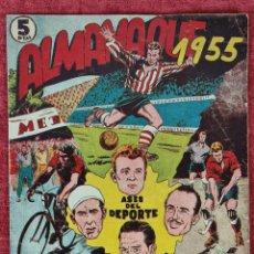 Coleccionismo deportivo: COMIC. ASES DEL DEPORTE. GRAFICAS RICART. ALMANAQUE DE 1955.. Lote 252108530