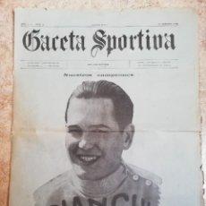 Coleccionismo deportivo: GACETA SPORTIVA. AÑO 1 Nº 2. OCTUBRE 1922. Lote 252174935