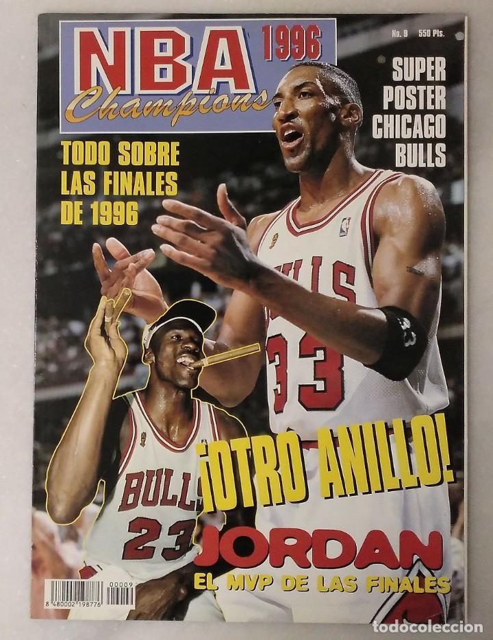 MICHAEL JORDAN & CHICAGO BULLS - ''REVISTA OFICIAL DE LA NBA'' - CUARTO ANILLO (1996) - RÉCORD 72-10 (Coleccionismo Deportivo - Revistas y Periódicos - otros Deportes)