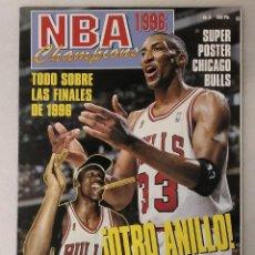Coleccionismo deportivo: MICHAEL JORDAN & CHICAGO BULLS - ''REVISTA OFICIAL DE LA NBA'' - CUARTO ANILLO (1996) - RÉCORD 72-10. Lote 58658706