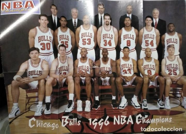 Coleccionismo deportivo: Michael Jordan & Chicago Bulls - Revista Oficial de la NBA - Cuarto anillo (1996) - Récord 72-10 - Foto 5 - 58658706