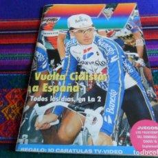 Coleccionismo deportivo: RADIO TV 16 VUELTA CICLISTA A ESPAÑA 1992 PERICO DELGADO Y 10 CARÁTULAS DE PELÍCULAS. BUEN ESTADO.. Lote 253974590