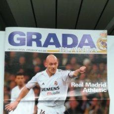Coleccionismo deportivo: PROGRAMA REVISTA REAL MADRID 19 FEBRERO 2005 GRADA BLANCA ATHLETIC CLUB BILBAO JORNADA 24. Lote 254414560