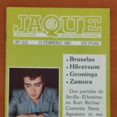 Coleccionismo deportivo: JAQUE Nº 212. 15/2/1987. AJEDREZ.. Lote 254850755