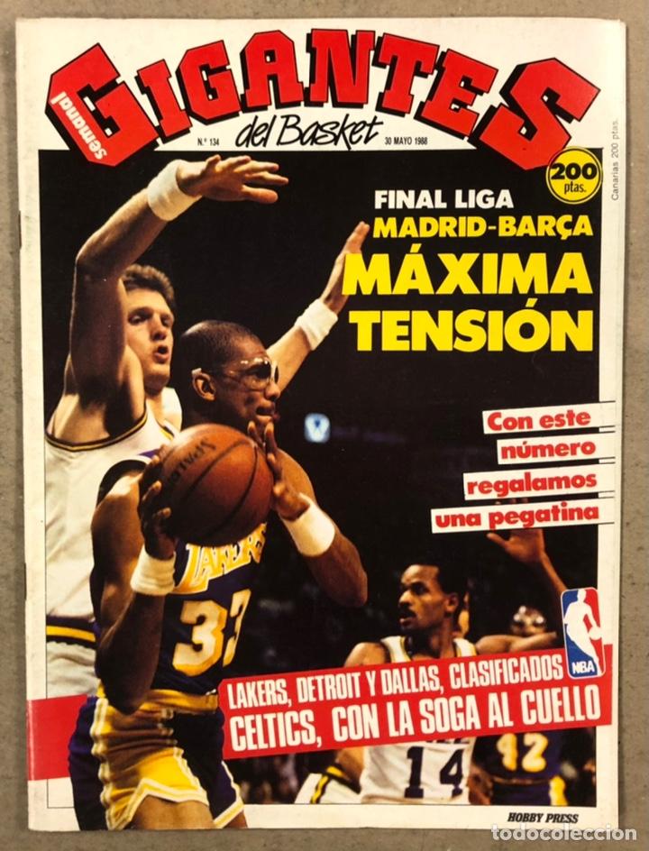 GIGANTES DEL BASKET N° 134 (1988). FINAL LIGA R. MADRID - BARÇA, NBA, POSTER JUANA MORALES,.. (Coleccionismo Deportivo - Revistas y Periódicos - otros Deportes)