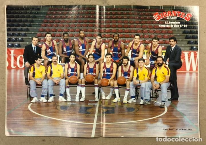 Coleccionismo deportivo: GIGANTES DEL BASKET N° 135 (1988). POSTER BARCELONA CAMPEÓN DE LIGA, EXTRA LIGA,... - Foto 2 - 254973330