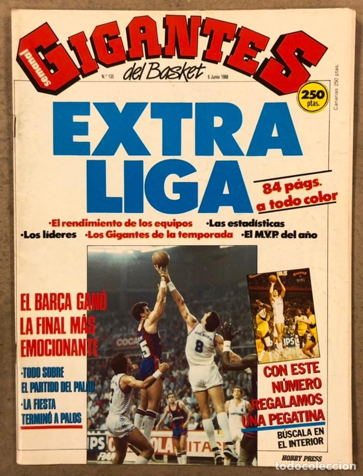 GIGANTES DEL BASKET N° 135 (1988). POSTER BARCELONA CAMPEÓN DE LIGA, EXTRA LIGA,... (Coleccionismo Deportivo - Revistas y Periódicos - otros Deportes)