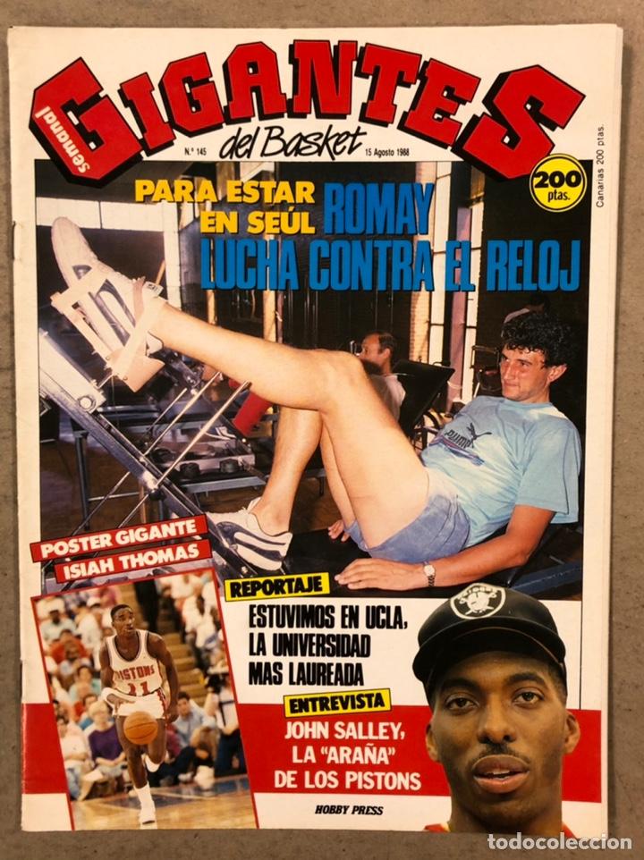 GIGANTES DEL BASKET N° 145 (1988). SIN POSTER, ROMAY, ESCUELA JOVENTUD, UCLA, JOHN SALLEY,... (Coleccionismo Deportivo - Revistas y Periódicos - otros Deportes)