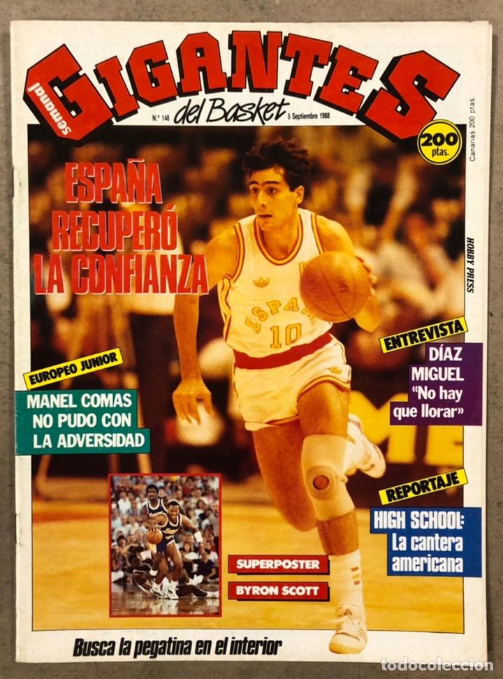 GIGANTES DEL BASKET N° 148 (1988). SELECCIÓN ESPAÑOLA, DÍAZ MIGUEL, MANEL COMAS,... (Coleccionismo Deportivo - Revistas y Periódicos - otros Deportes)