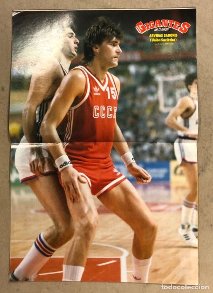 Coleccionismo deportivo: GIGANTES DEL BASKET N°150 (1988). ESPECIAL OLIMPIADAS SEÚL '88, POSTER SABONIS,.... - Foto 2 - 254976915