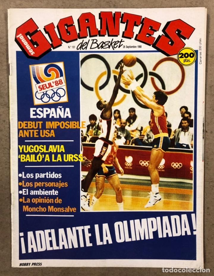 GIGANTES DEL BASKET N°150 (1988). ESPECIAL OLIMPIADAS SEÚL '88, POSTER SABONIS,.... (Coleccionismo Deportivo - Revistas y Periódicos - otros Deportes)