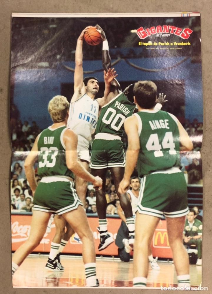 Coleccionismo deportivo: GIGANTES DEL BASKET N°156 (1988). ESPECIAL OPEN MCDONALDS REAL MADRID Vs BOSTON CELTICS, POSTER PARI - Foto 2 - 254977620