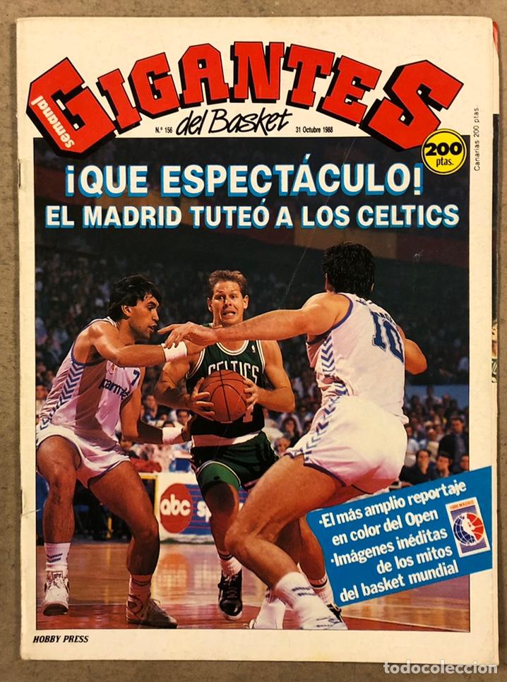 GIGANTES DEL BASKET N°156 (1988). ESPECIAL OPEN MCDONALDS REAL MADRID VS BOSTON CELTICS, POSTER PARI (Coleccionismo Deportivo - Revistas y Periódicos - otros Deportes)