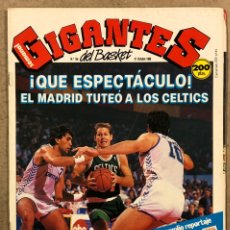 Coleccionismo deportivo: GIGANTES DEL BASKET N°156 (1988). ESPECIAL OPEN MCDONALDS REAL MADRID VS BOSTON CELTICS, POSTER PARI. Lote 254977620