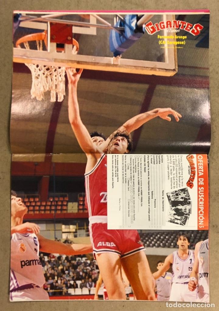 Coleccionismo deportivo: GIGANTES DEL BASKET N°156 (1988). POSTER FERNANDO ARCEGA (CAI ZARAGOZA), JUGOPLASTICA SPLIT, BIRIUKO - Foto 2 - 254978670