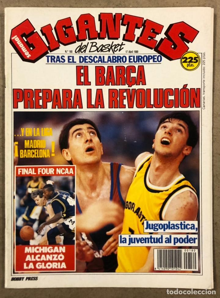 GIGANTES DEL BASKET N°156 (1988). POSTER FERNANDO ARCEGA (CAI ZARAGOZA), JUGOPLASTICA SPLIT, BIRIUKO (Coleccionismo Deportivo - Revistas y Periódicos - otros Deportes)