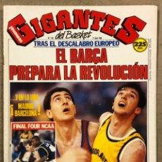 Coleccionismo deportivo: GIGANTES DEL BASKET N°156 (1988). POSTER FERNANDO ARCEGA (CAI ZARAGOZA), JUGOPLASTICA SPLIT, BIRIUKO. Lote 254978670