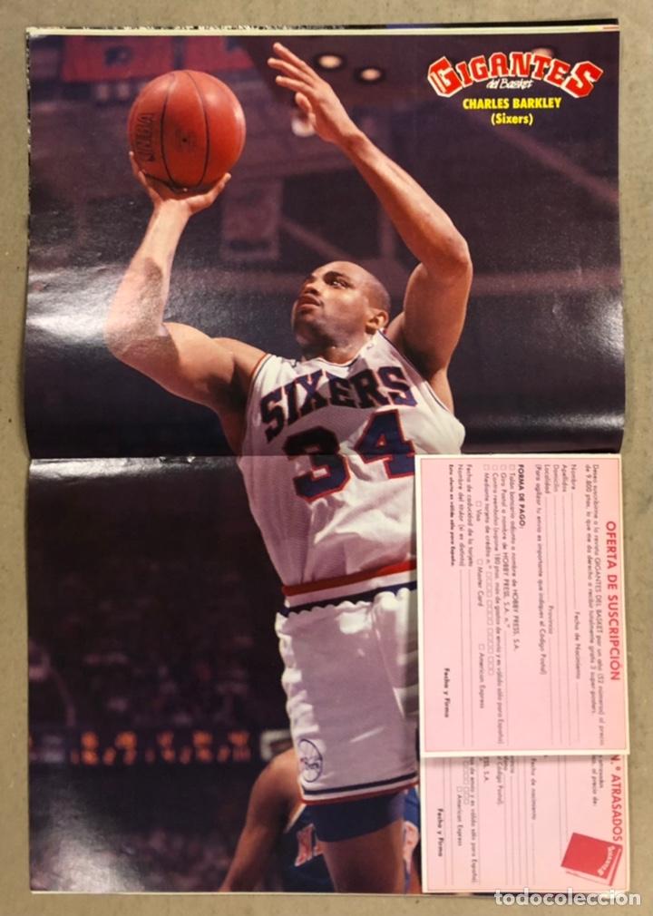 Coleccionismo deportivo: GIGANTES DEL BASKET N°185 (1989). MICHAEL JORDAN, POSTER CHARLES BARKLEY (SIXERS),... - Foto 2 - 254979390