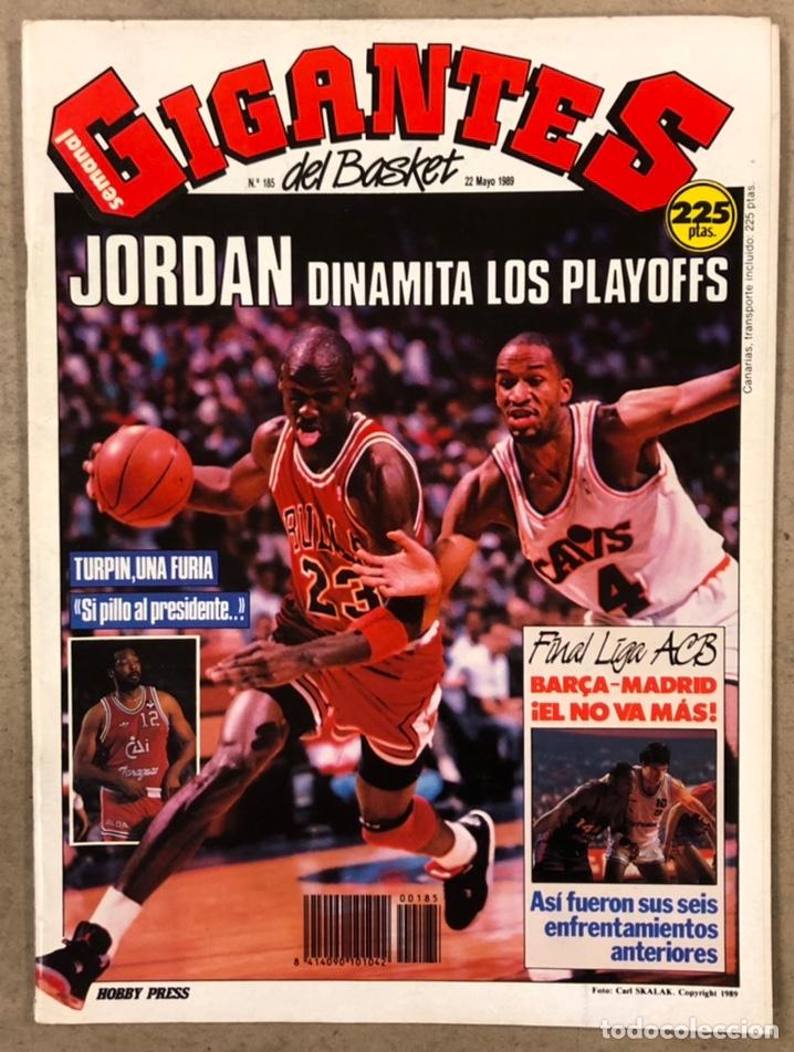 GIGANTES DEL BASKET N°185 (1989). MICHAEL JORDAN, POSTER CHARLES BARKLEY (SIXERS),... (Coleccionismo Deportivo - Revistas y Periódicos - otros Deportes)